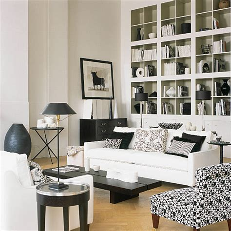 Houzz White Living Rooms black white living room living room