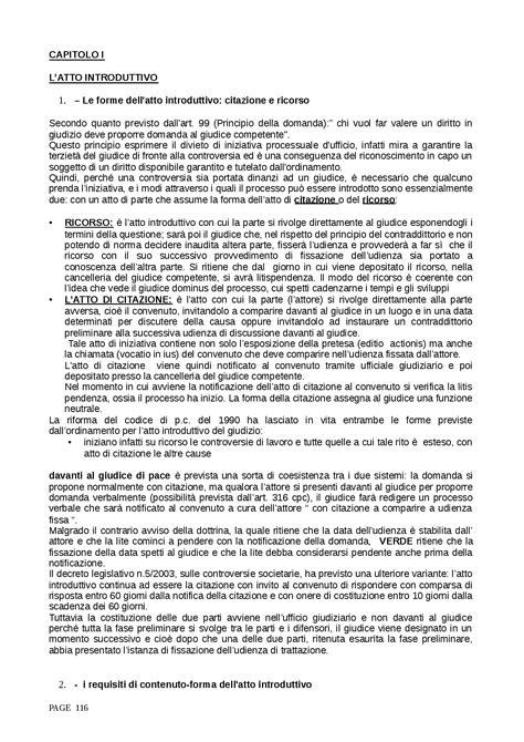 verde testo riassunto esame procedura civile testo riferimento