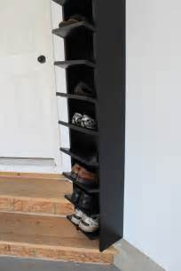 Entryway Shoe Shelf Homemade Shoe Rack Diy Inspiration Indoors Pinterest