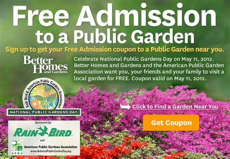 Gardens Coupon by Chicagoland Homeschool Network 187 Free Admission