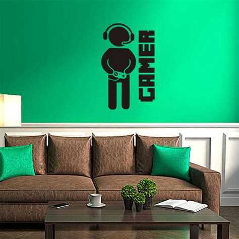 gamer home decor 2016 new video game wall sticker gamer wall decal art for