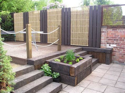 paul s railway sleeper decking project for yola ian