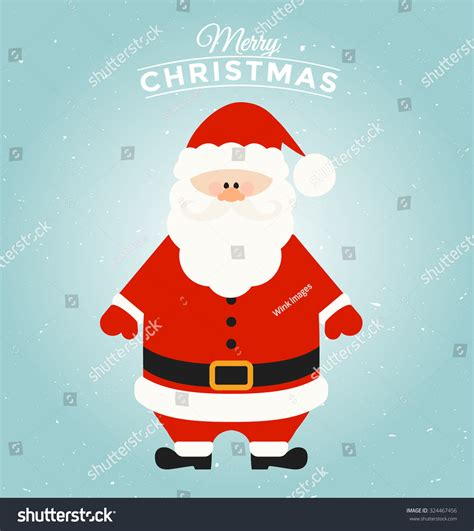 santa claus card template typographic greeting card template santa stock