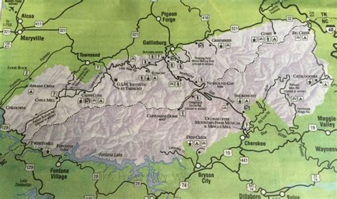 great smoky mountains national park map things to do in the great smoky mountain national park