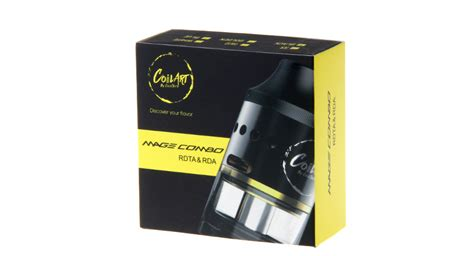 Coilart Mage Combo Rdardta Stainless Steel Authentic Atomizer 24 68 authentic coilart mage combo rdta rebuildable tank atomizer 4ml 304