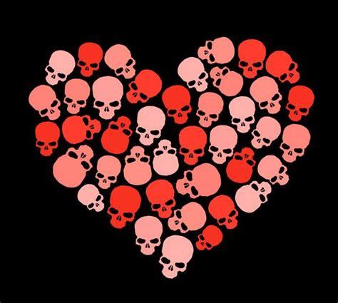 skull valentines happy valentines day