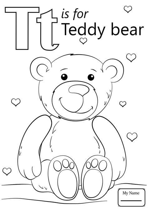 T Coloring Pages by Letters Coloring Pages Free Printable Colouring For
