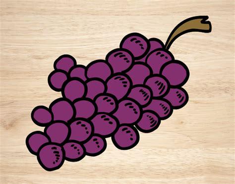 imagenes de uvas kawaii dibujos de uvas para colorear dibujos net
