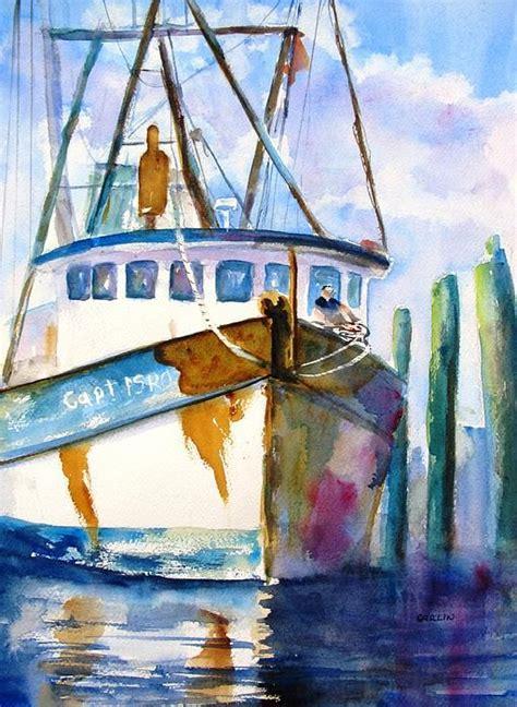 shrimp boat art 25 best boat painting ideas on pinterest whale canvas
