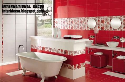 bathroom red tiles modern red wall tile designs ideas for bathroom