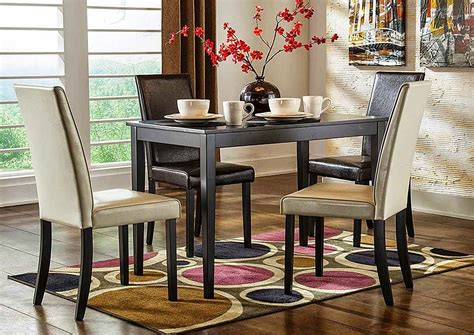 kimonte rectangular dining room table d250 25 tables jarons kimonte rectangular dining table w 2 dark brown