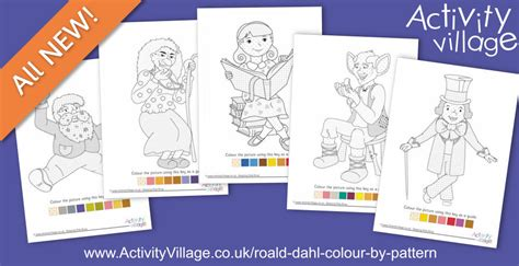 what colour paper did roald dahl write on colour your favourite roald dahl characters by pattern
