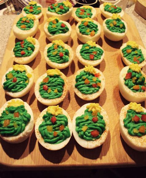 christmas deviled eggs deviled egg recipies pinterest