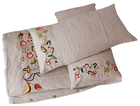 embroidered bedding comfybedlinen s innovative embroidered linen bedding for