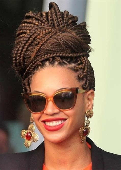 loose braid hairstyle for black women partial braids with loose ends for black women hairstyle