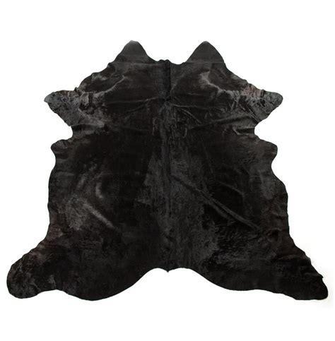 black hide rug onyx black hair on hide rug kathy kuo home