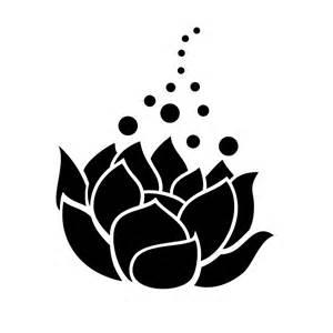 Lotus Silhouette Lotus Flower Silhouette Pretty Vinyl Sticker Car Decal
