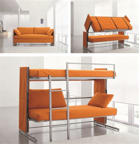 bunk bed with couch bed shoebox dwelling finding comfort style and dignity in small spaces