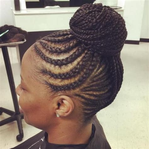 cornrowed bun 70 best black braided hairstyles that turn heads