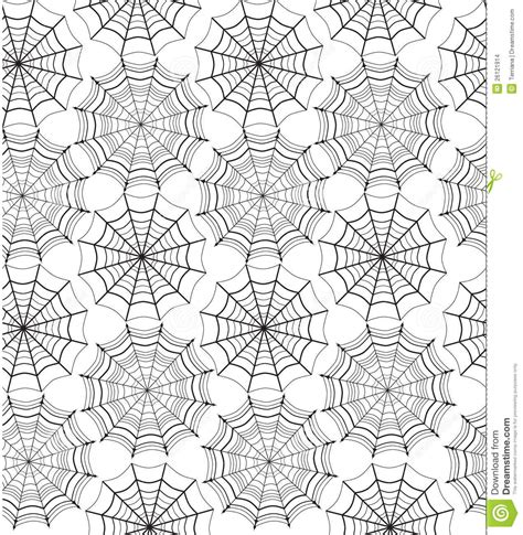 web pattern com seamless pattern with spiders web stock vector image
