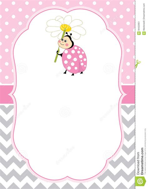 ladybug birthday card template vector card template with a ladybug on chevron and