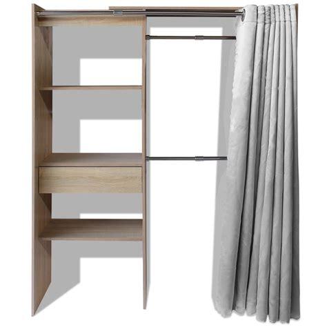 armadio con tenda vidaxl armadio con tenda larghezza regolabile 121 168 cm