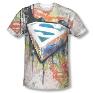 spray painted shirts superman graffiti spray paint shield sublimation all
