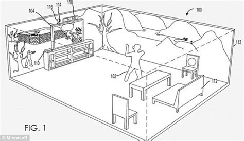how to draw a 3d room microsoft files patent to bring trek s holodeck to future xbox consoles daily mail