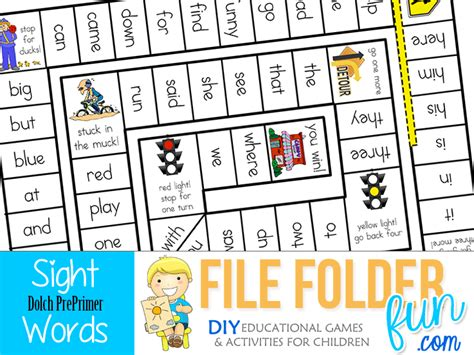printable sight word board games kindergarten sight word games