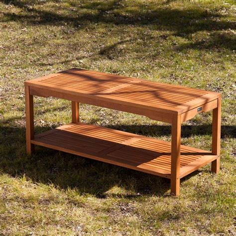 brown patio southern enterprises catania patio coffee table in brown od6623