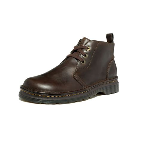 dr martens reed 3 eye chukka boots in brown for lyst