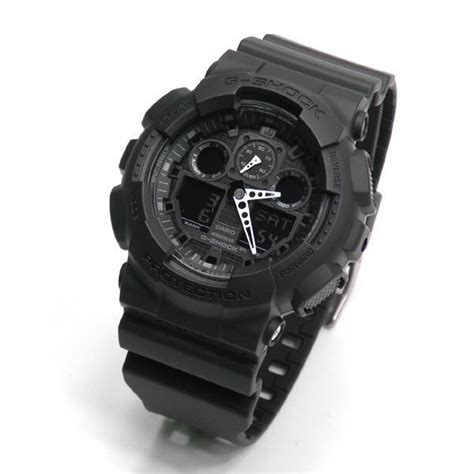 Casio G Shock Ga 100 Black buy casio g shock velocity indicator alarm ga 100