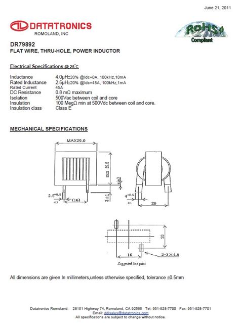 flat wire inductor calculator dr79892 flat wire thru power inductor electronic products