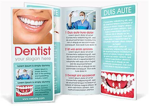 dental brochure templates dental help brochure template design id 0000000691
