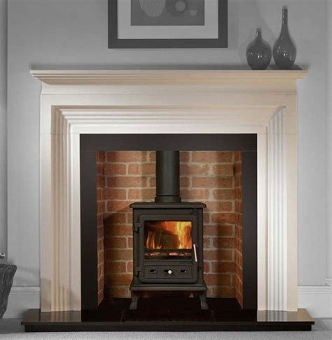 Wood Fireplace Stove by Brick Lining To Chimney Black Hearth Layered Wood