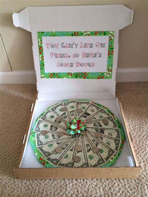 money gift ideas pizza dough perfect gift idea for