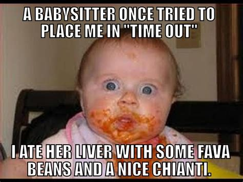 Memes About Babies - funny hannibal lecter baby meme h i l a r i o u s