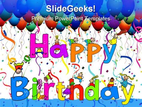 Happy Birthday People Powerpoint Template 0610 Happy Birthday Ppt Template