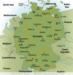 map of major cities in germany germany pinterest