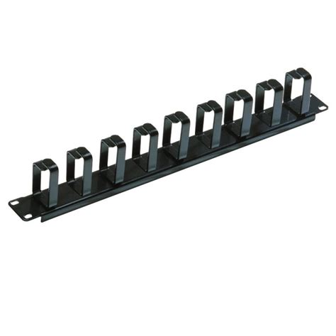 Wire Management 1u Murah 1u horizontal cable management panel with 9 hoops from lindy uk