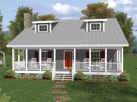 one and a half story house plans with porches number one