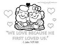 we love because he first loved us coloring page