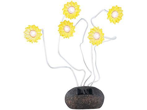 blumen beleuchtung lunartec blumen solarlen solar sonnenblumen mit