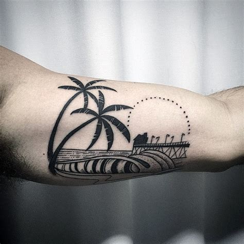 90 surf tattoos for men oceanic design ideas