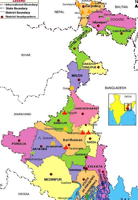 bengal india map west bengal tourist maps west bengal travel maps west