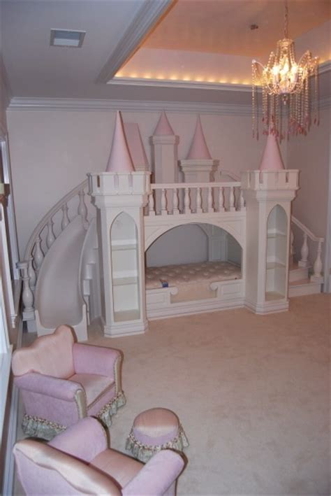 Princess Bunk Beds With Stairs Princess Bed W Stair Slide Room Pinterest