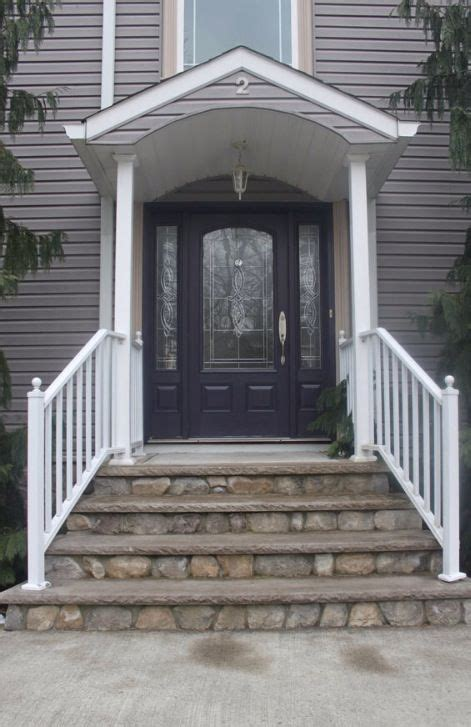 grey house purple front door color pinterest house
