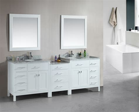 white double bathroom vanity adorna 92 inch transitional double bathroom vanity