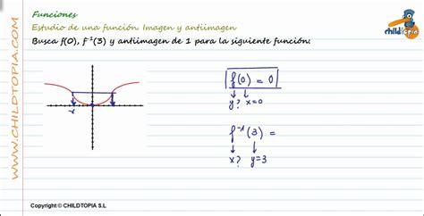 imagenes funciones matematicas funciones estudio de la imagen y antiimagen de una