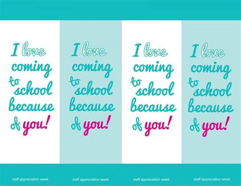 printable bookmarks for teacher appreciation 17 best images about printables on pinterest ice cream